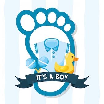 Décoration pour carte de douche de bébé