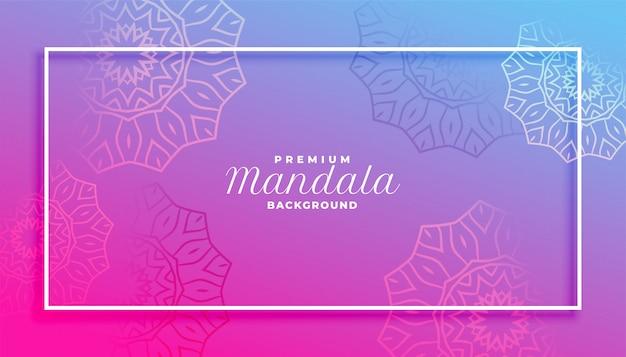Décoration de style mandala vibrant beau design de fond