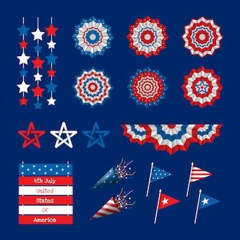 Décorations du 4 juillet jour de l'indépendance états-unis d'amérique
