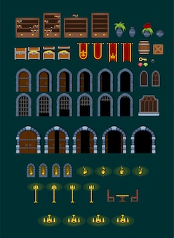Décorations de jeux de château