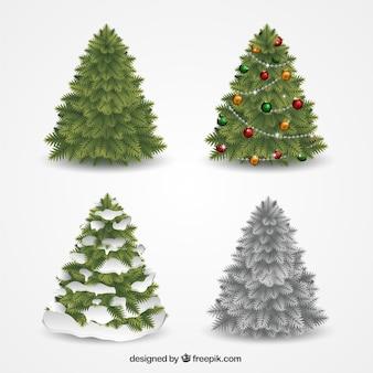 Decorative collection arbres de noël