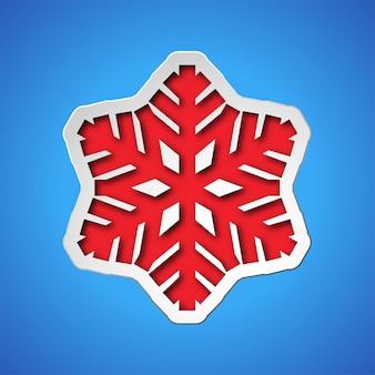 Découper le flocon de neige de noël