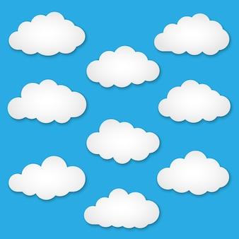 Découpez les nuages de papier