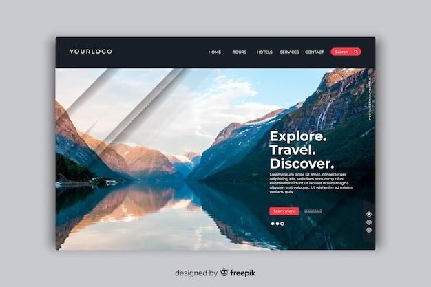 Découvrez la page de destination avec photo