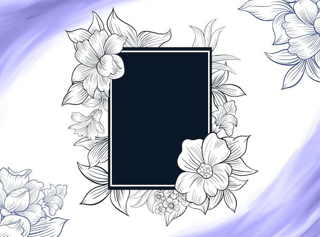 Décrire la décoration de bordure de cadre de fond floral