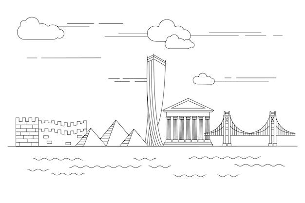 Décrire l'horizon des monuments