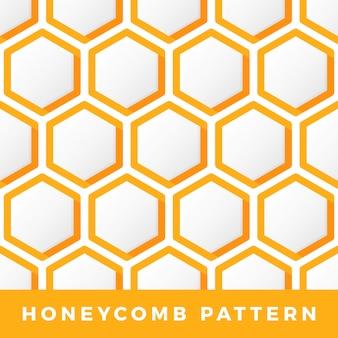 Décrire le motif en nid d'abeille hexagonal.