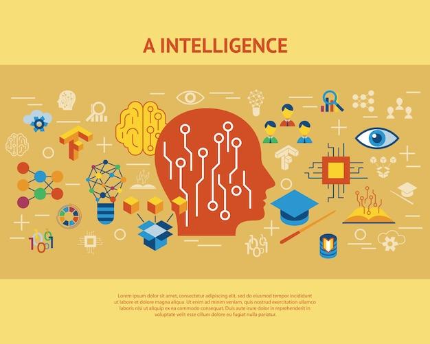 Deep learning et collection d'icônes d'intelligence artificielle