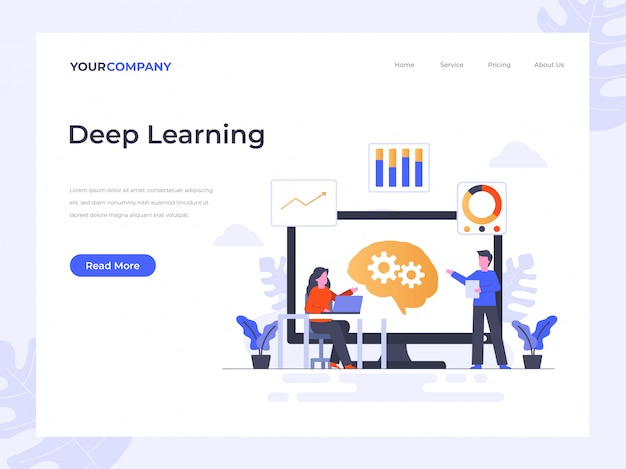 Deep learning landing page