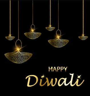 Deepavali fête de la lumière et du feu. lampes suspendues.