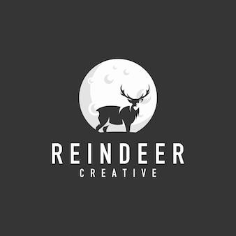 Deer and moon logo