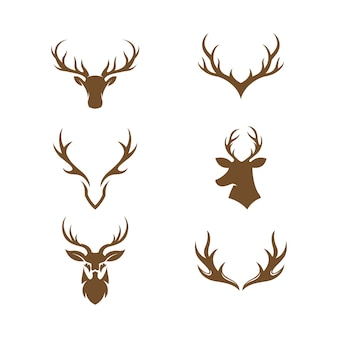 Deer animal template vecteur icône illustration design