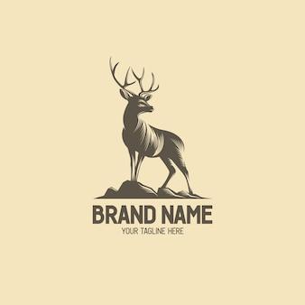 Deer stood sur la colline logo