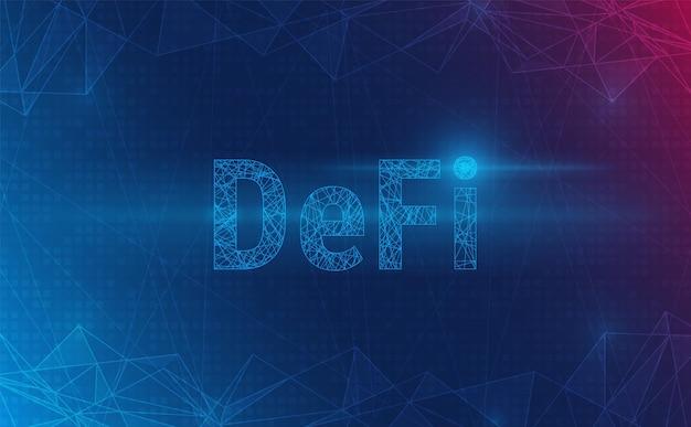 Defi crypto monnaie sur l'arrière-plan du système. concept futuriste. vecteur et illustration