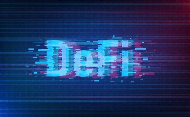 Defi style de pépin de devise crypto sur l'arrière-plan du système. concept futuriste. vecteur et illustration