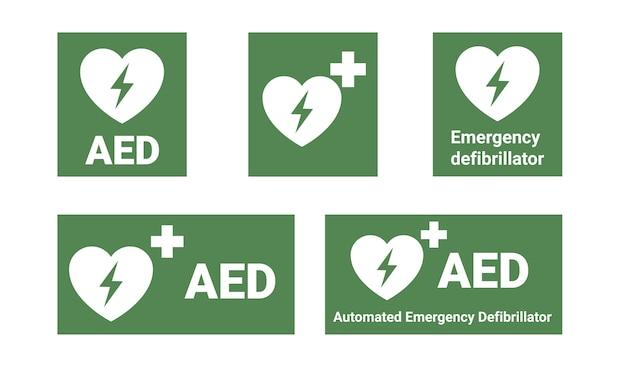 Défibrillateur d'urgence aed. défibrillateur externe automatisé.