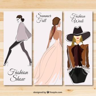 Défilé de mode bannières