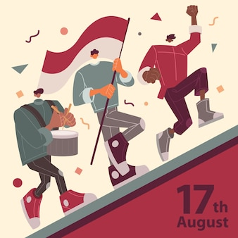Défilé des peuples du jour de l'indépendance de l'indonésie