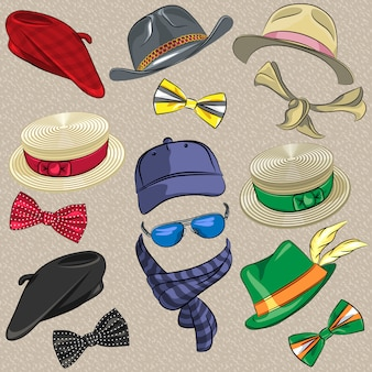 Définir des accessoires hipster