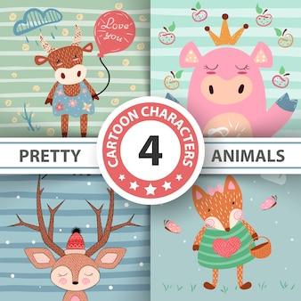 Définir des animaux de dessin animé