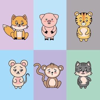 Définir des animaux mignons et tendres avec des expressions