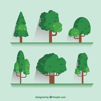 Définir des arbres dans la conception plate