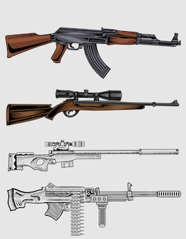 Définir des armes à feu