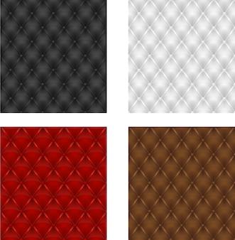 Définir l'arrière-plan transparent de sellerie en cuir multicolore