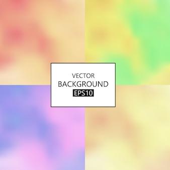 Définir des arrière-plans flous pastel abstraits vecteur eps 10