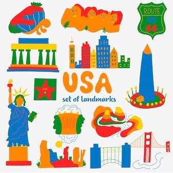 Définir les attractions des lieux populaires états-unis