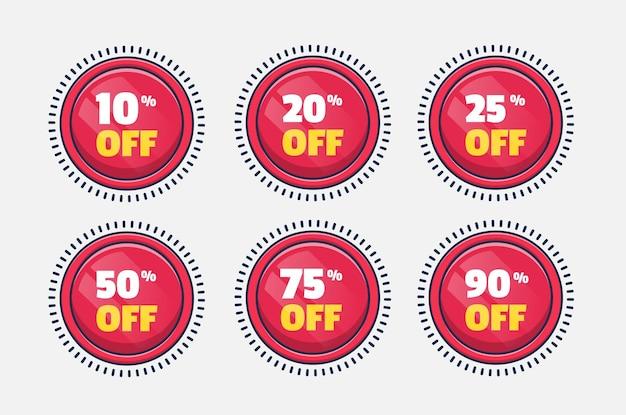 Définir un badge de réduction d'étiquette de vente