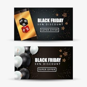 Définir la bannière du vendredi noir avec décoration