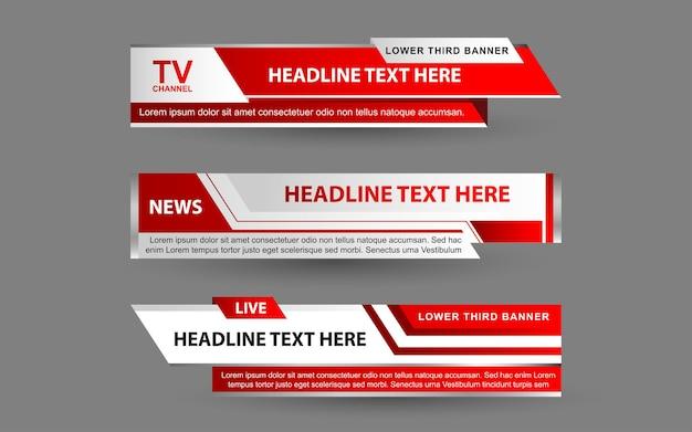 Définir des bannières et des tiers inférieurs pour la chaîne d'information avec des couleurs blanche et rouge