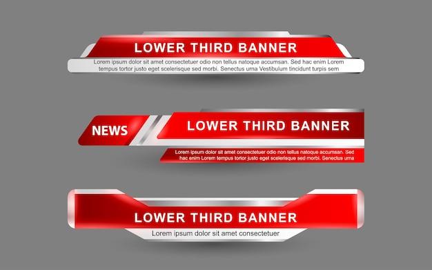 Définir des bannières et des tiers inférieurs pour la chaîne d'informations avec une couleur rouge et blanche