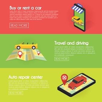 Définir des bannières de voiture.