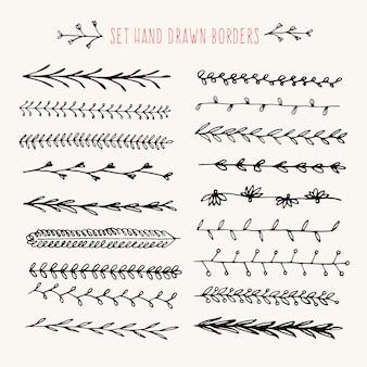 Définir la bordure de ligne dessinée à la main.