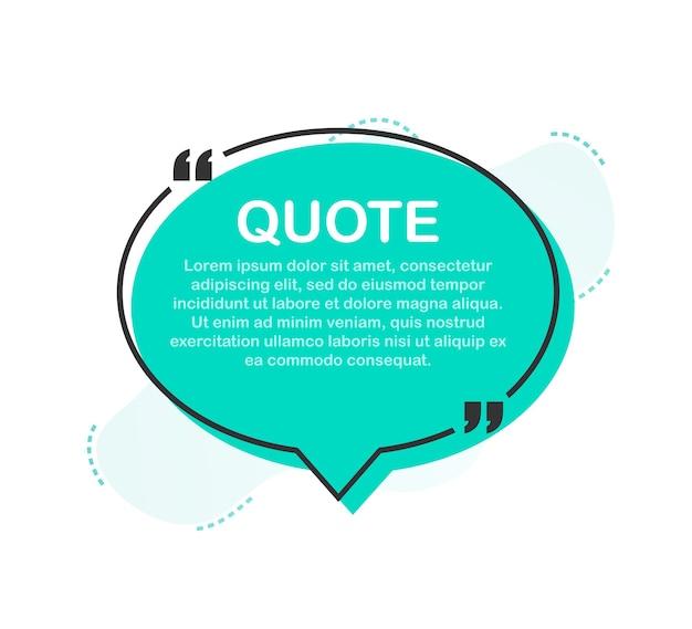 Définir les cadres de devis. modèle vierge avec des citations de conception d'informations d'impression. illustration vectorielle de stock.