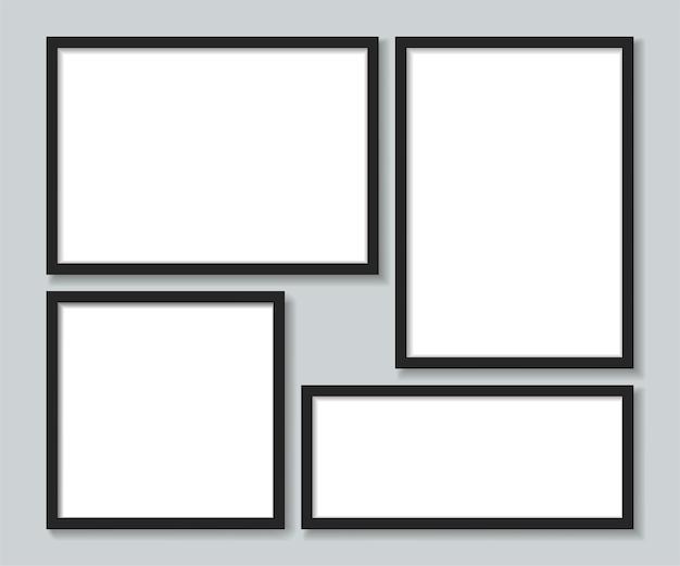 Définir des cadres photo noirs