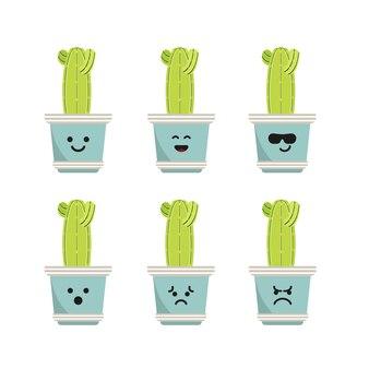 Définir le caractère saguaro cactus illustration