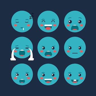 Définir des caractères émoticônes kawaii