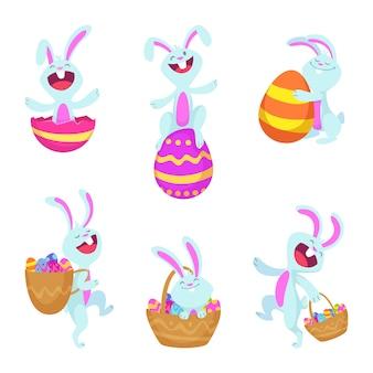 Définir les caractères de lapins de pâques