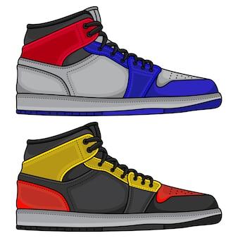 Définir des chaussures de basket