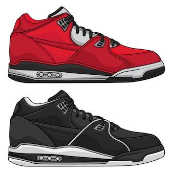 Définir des chaussures de style de vie
