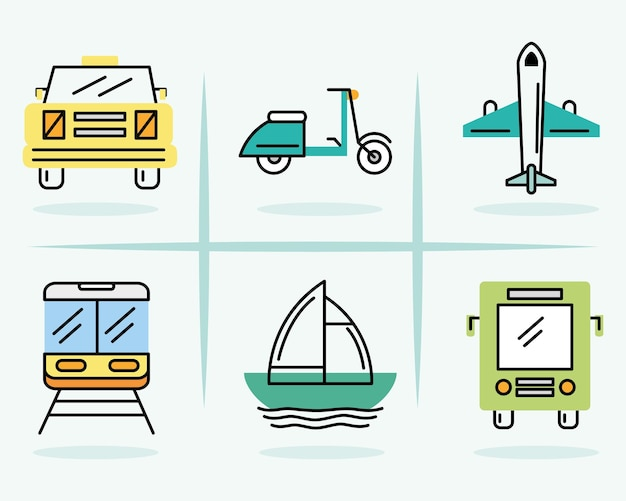 Définir des cliparts de transport