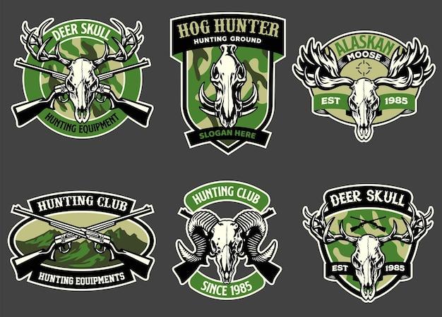 Définir la collection d'insignes de chasse aux animaux