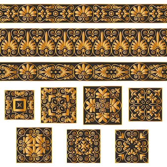 Définir des collections de vieux ornements grecs.