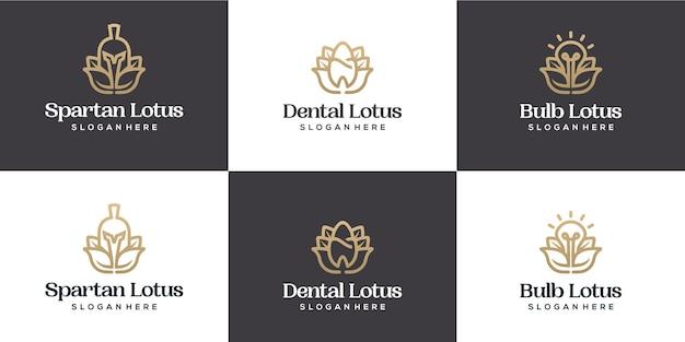 Définir la combinaison de logo de lotus