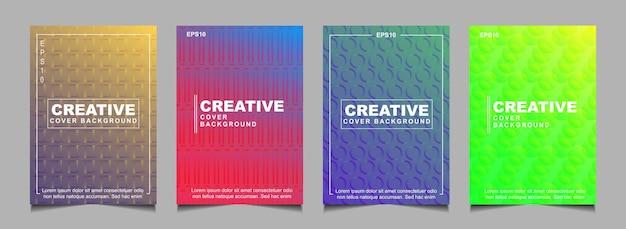Définir la conception de la couverture abstraite avec une couleur dégradée