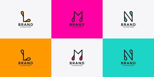 Définir la conception du logo omn de la lettre minimaliste créative