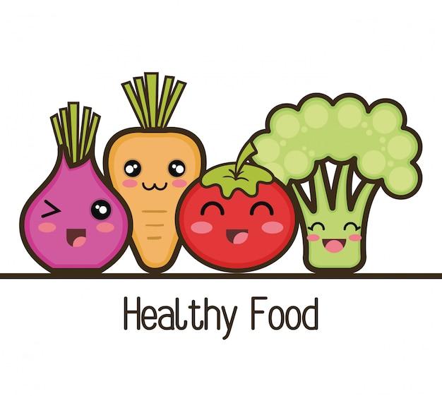 Définir la conception de légumes de nourriture saine